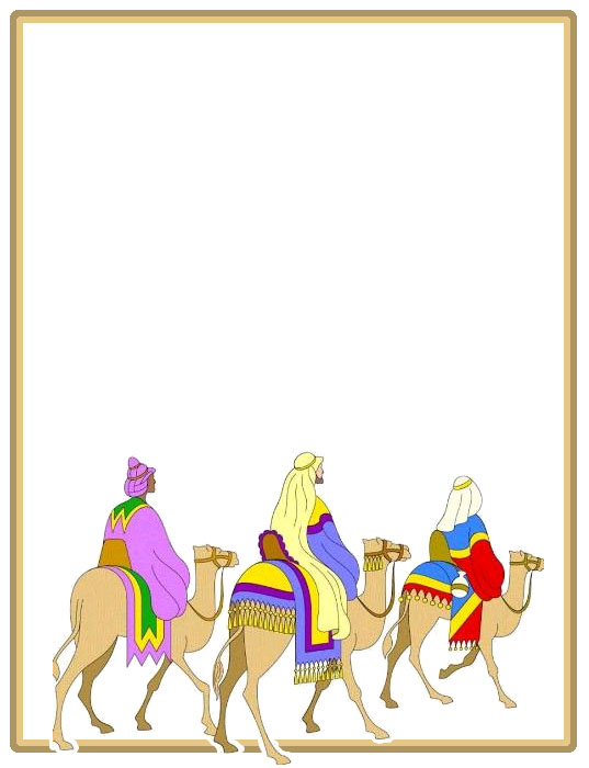 Bordes Decorativos Carta Los Reyes Magos Para