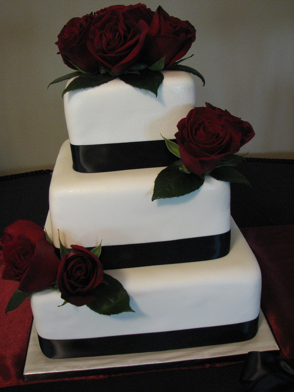 Decadent Designs Monica s Red and Black Wedding Cake