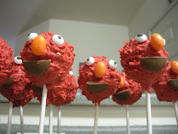 Elmo Head Cake Pop
