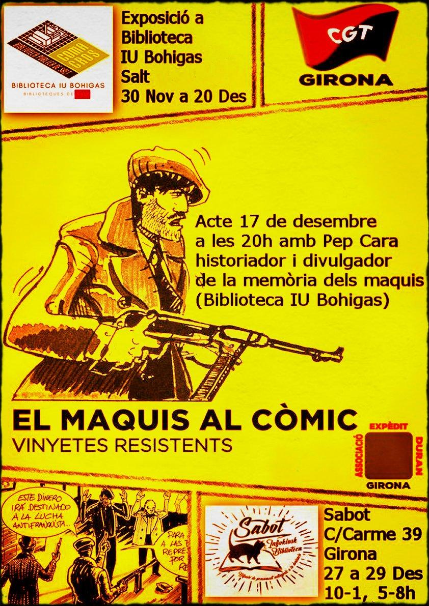 """Exposició """"El maquis al còmic: vinyetes resistents"""""""