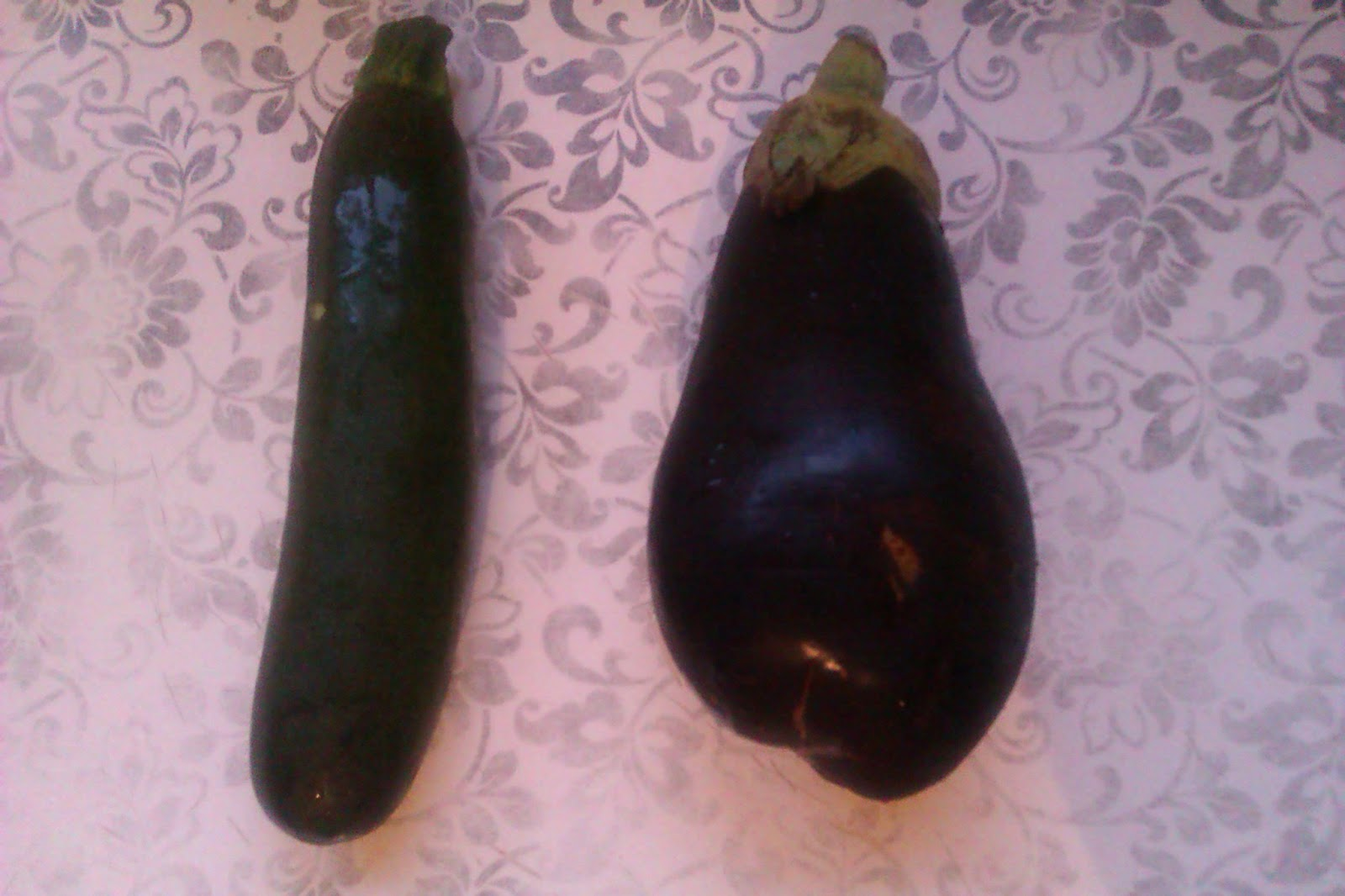 Courgette et aubergine
