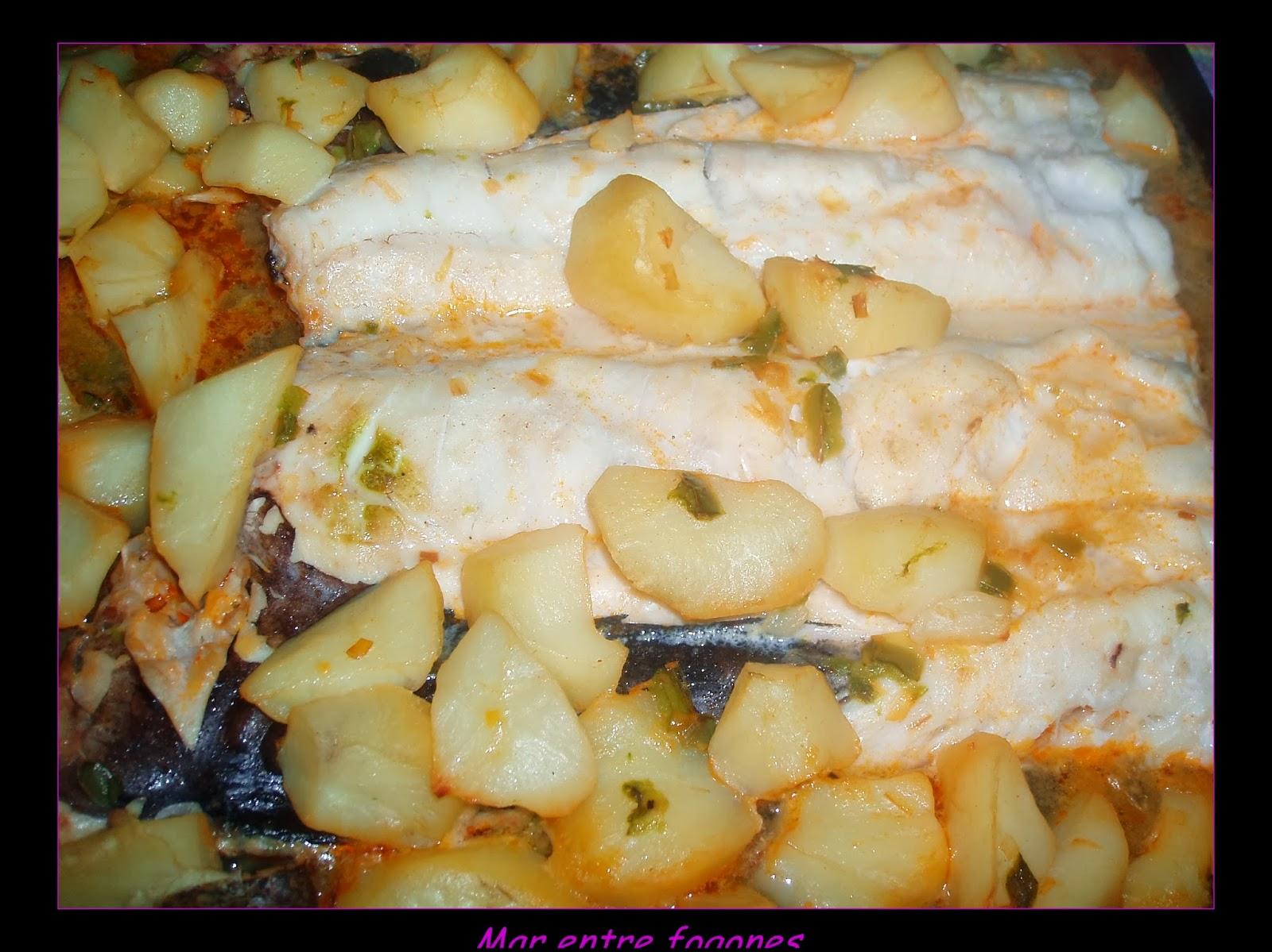 Merluza con patatas al horno recetas de cocina - Patatas pequenas al horno ...