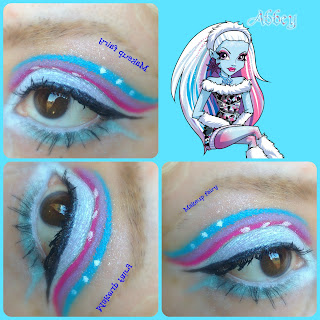 monster high abbey bominable eye makeup