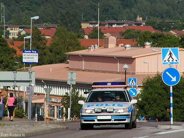 Olofström, polis, polisbil