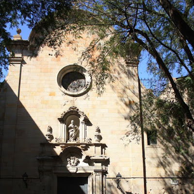Sant Felip Neri church inside the Barcelona Gothic Quarter