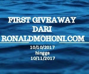 First Giveaway Dari Ronaldmohoni.Com