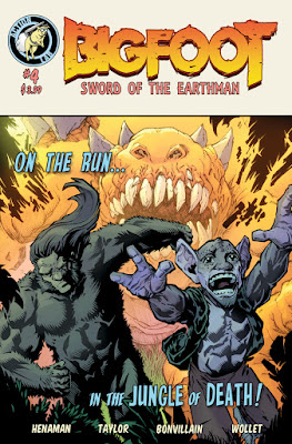 BIGFOOT sword of the earthman issue four action lab comics bigfoot comic book bigfoot graphic novel barbarian comic