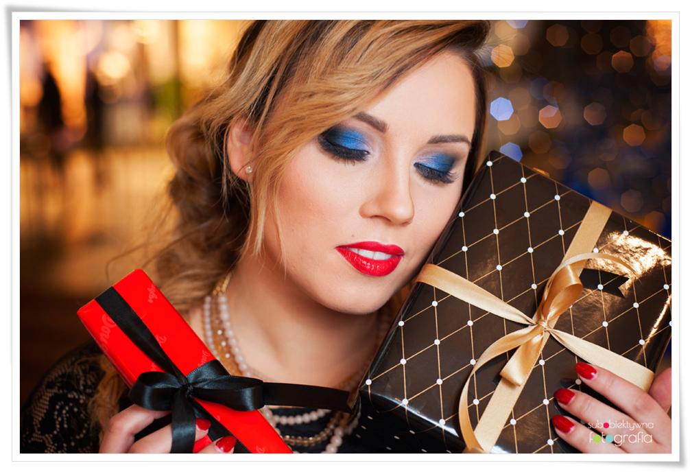 makijaż sylwestrowy, sylwester, smokey eyes, mocne oko, czerwone usta, intensywny makijaż, stylizacja, makijaż okazjonalny
