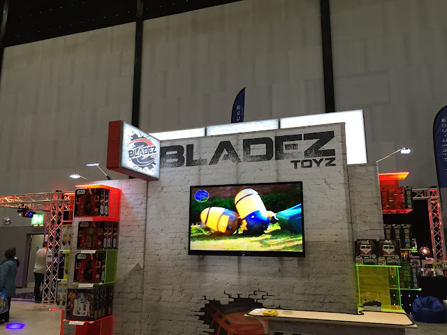 A video screen showing two inflatable radio controlled Minions