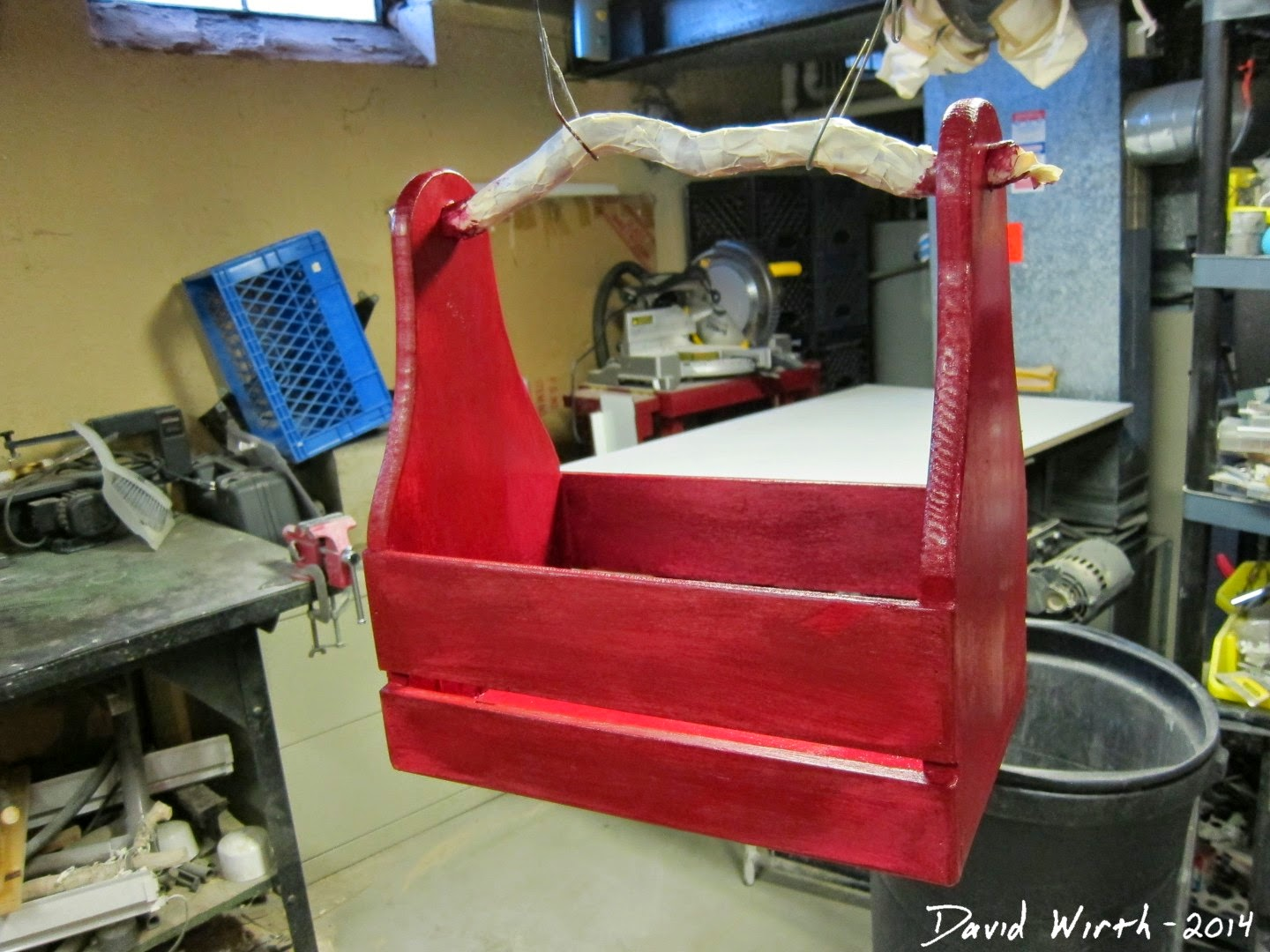 make an old looking tool box