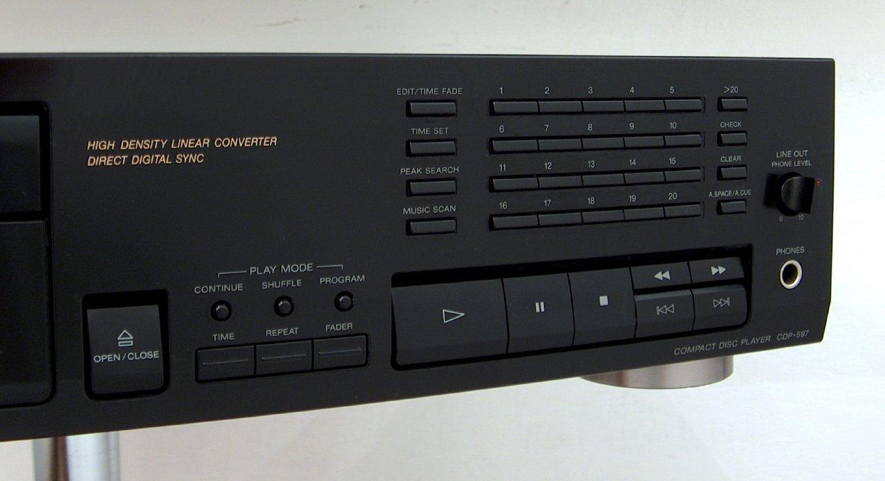 Sony Cdp 597 Cd Player Audiobaza