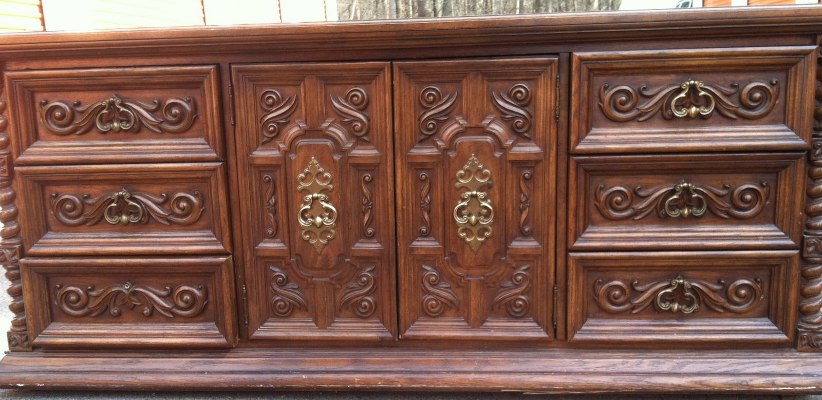 Savard Studios Vintage Ornate Bedroom Set Ready for Paint