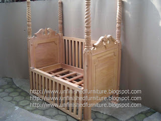Indonesia furniture supplier solid wooden baby bed