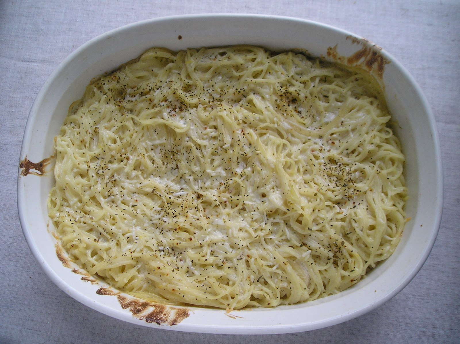 Baked Lemon Spaghetti ~ Edesia's Notebook