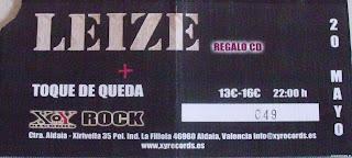 entrada de concierto de leize