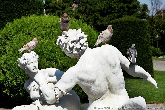 A Természettörténeti Múzeum parkja - Bécs, Ausztria
