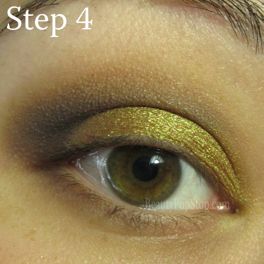 valentine's day makeup tutorial using mac old gold pigment