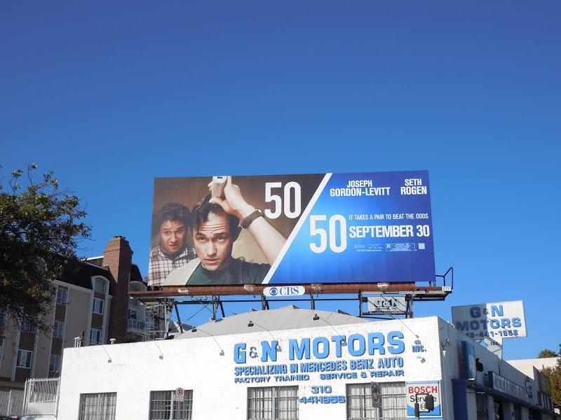 50/50 movie billboard