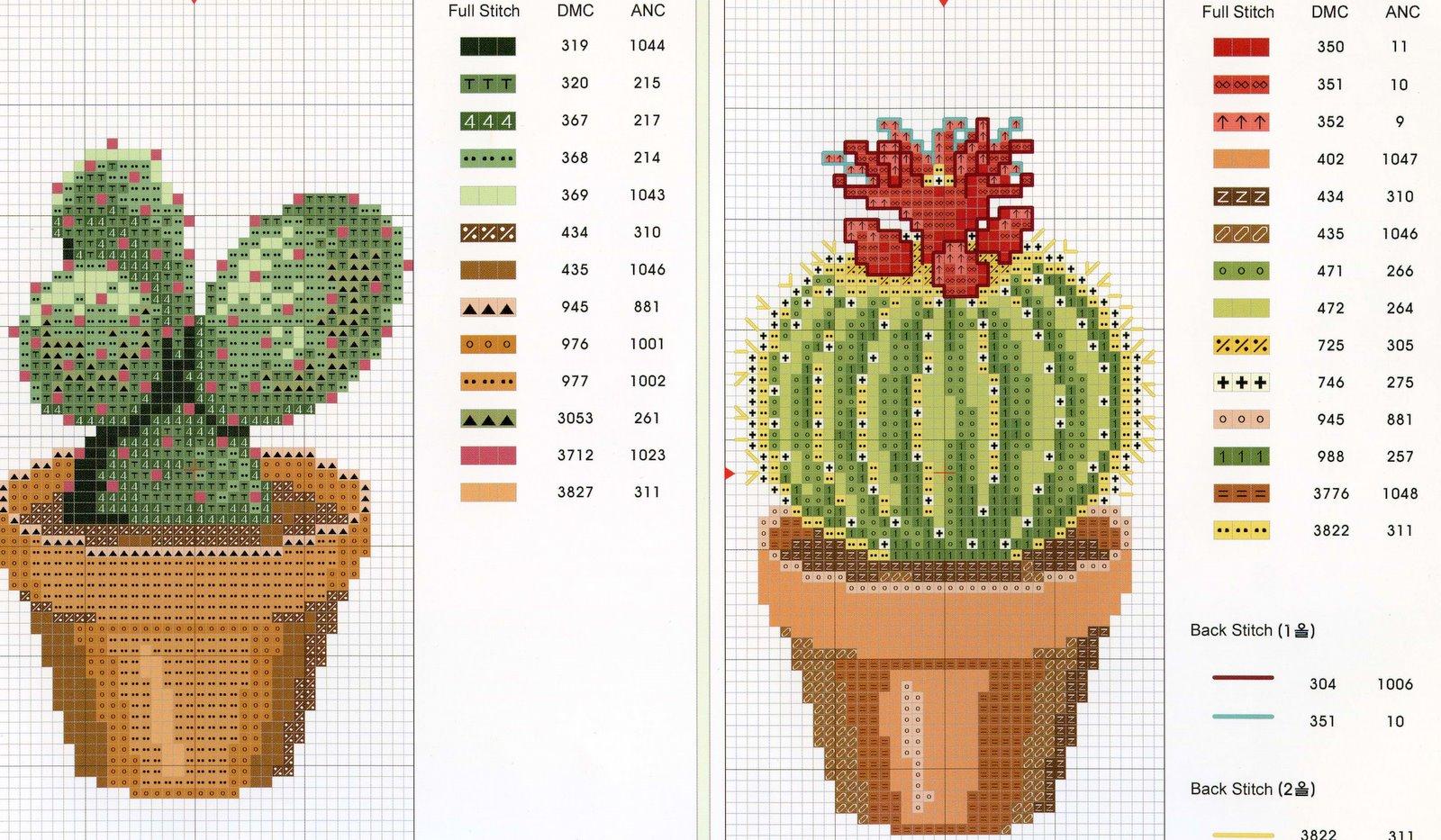 Схемы вышивки с кактусами 914
