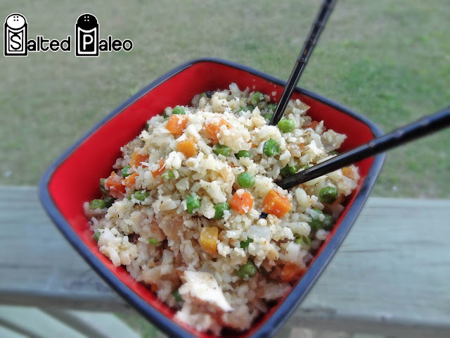 "Salted Paleo: Chinese Fried Cauliflower ""Rice"""
