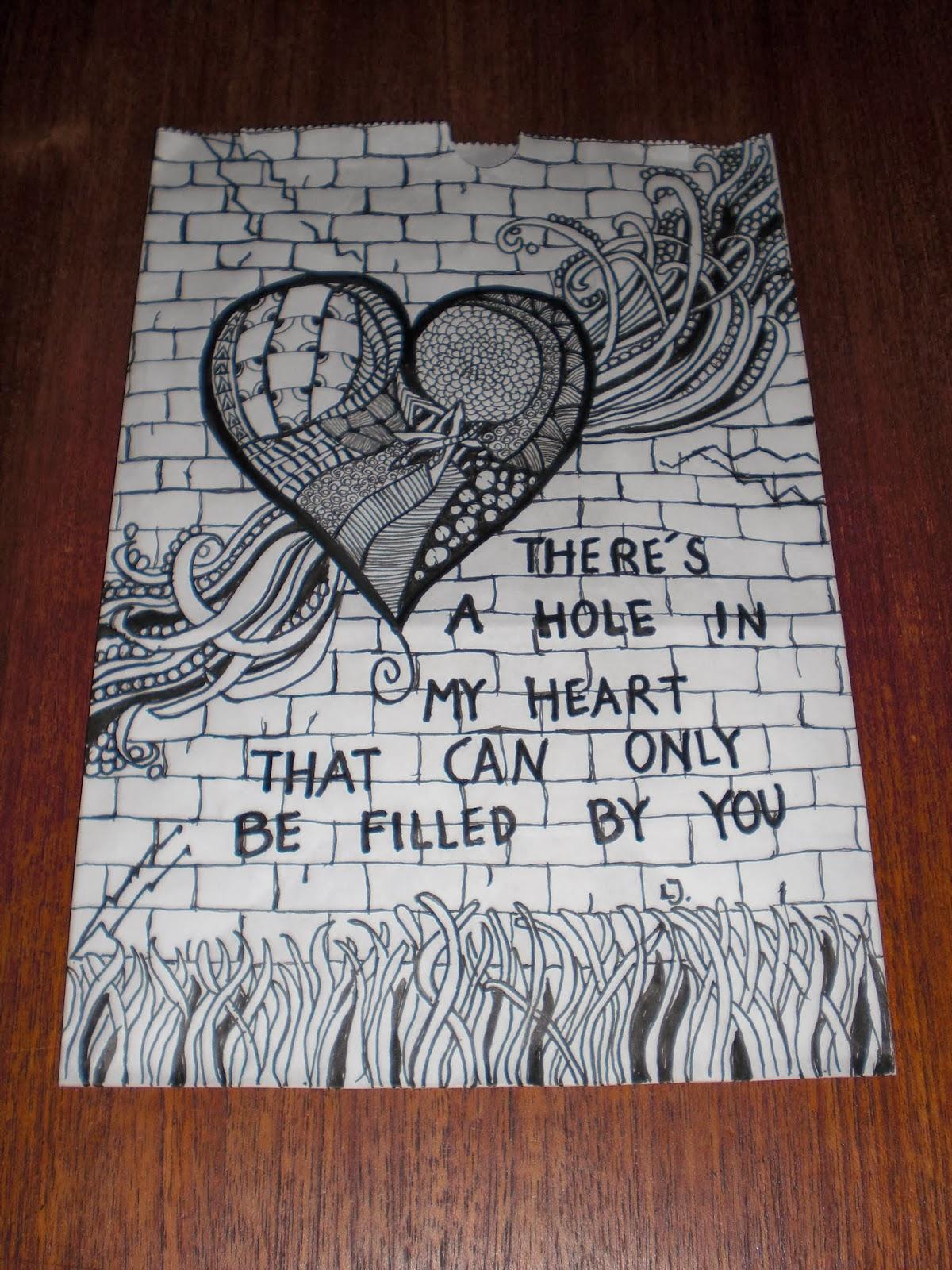 Zentangle kruseduller tegnet på lyspose for Kræftens Bekæmpelse