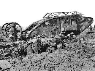 TANQUES Y BLINDAJES DE TANQUES British_Mark_I_male_tank_Somme_25_September_1916