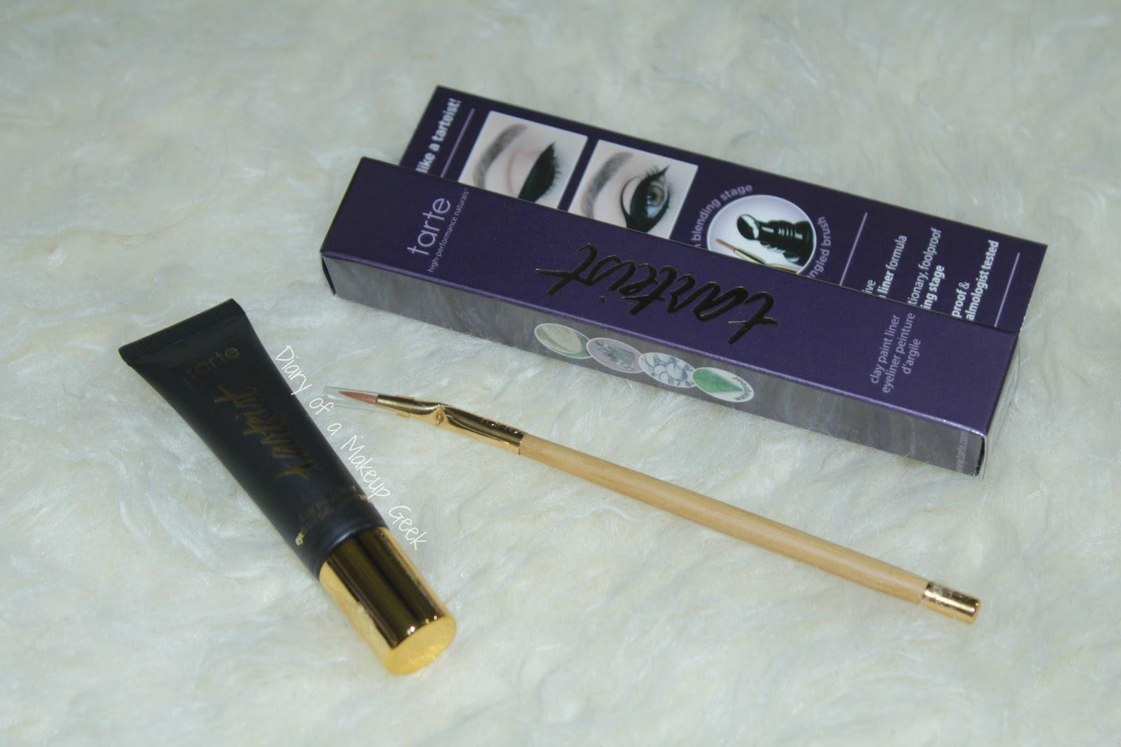 Diary of a makeup geek blog tarte tarteist clay paint for Tarteist clay paint liner