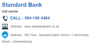 Standard Bank Customer Service Number South Africa