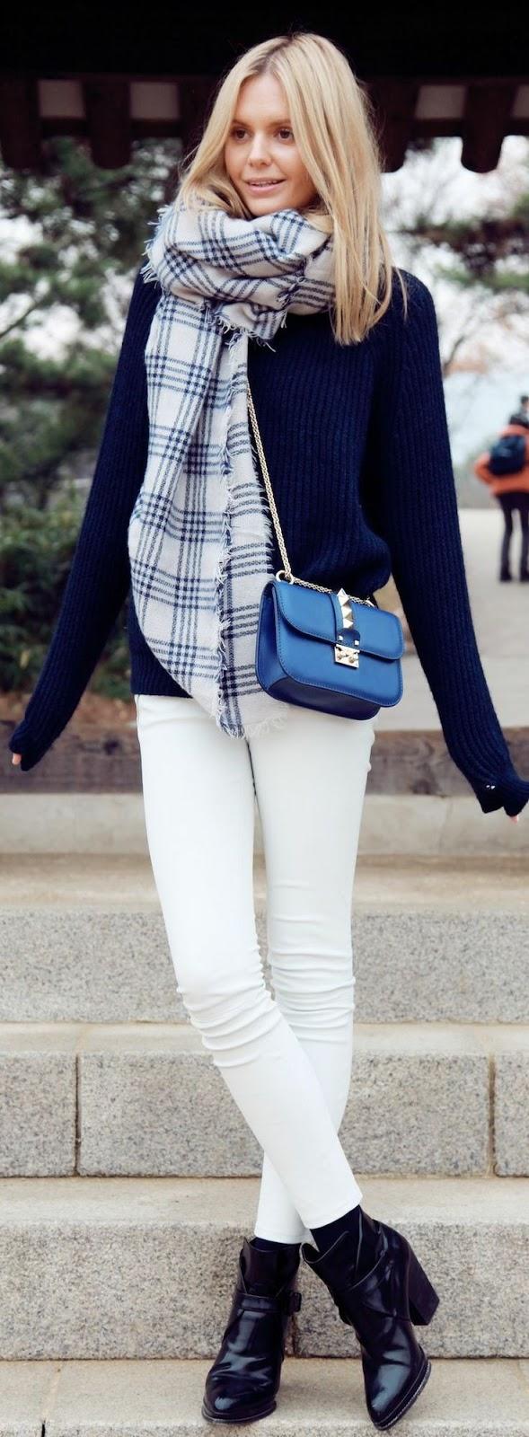 Oficina Chic: Calça Branca no Inverno