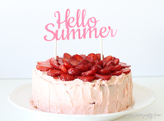 Hello Summer Strawberry Cake