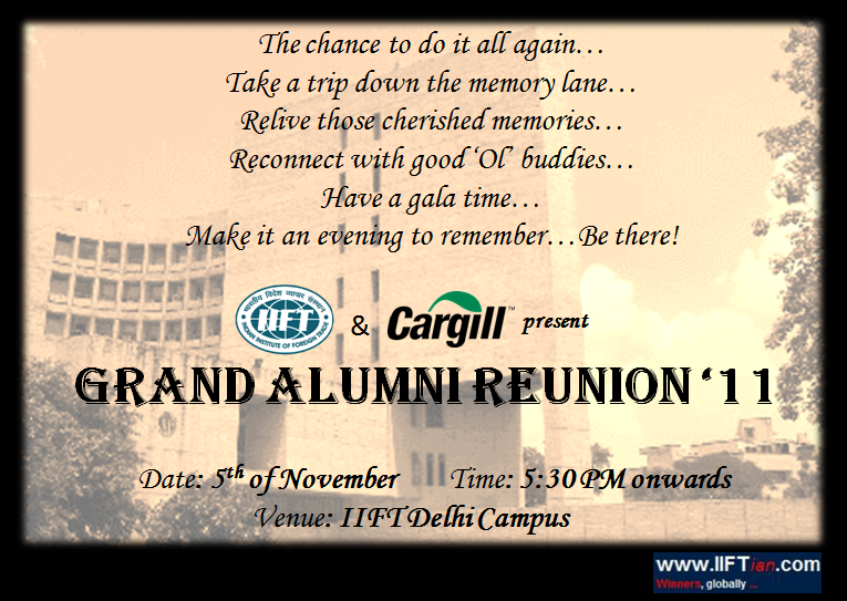Iift U0026 39 S Official Blog  Iift Grand Alumni Reunion  2011