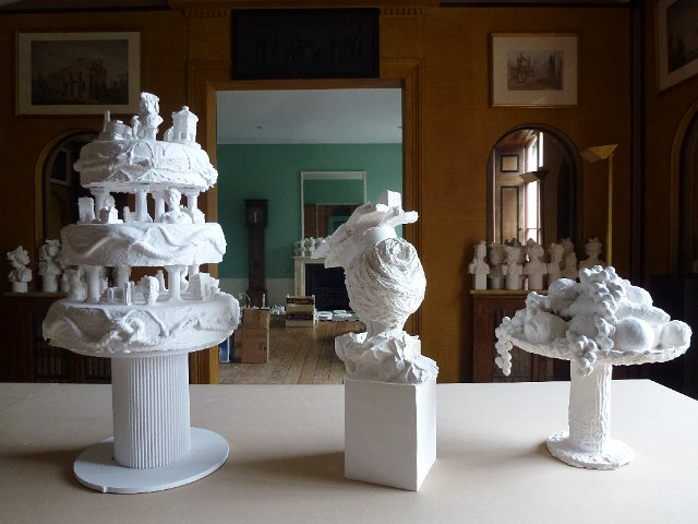 Exhibition of plaster busts at Pitzhanger Manor, London