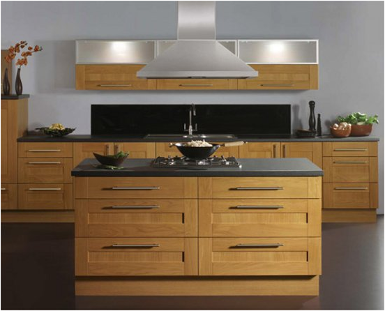 Asian style kitchen ideas room design inspirations for Modern oak kitchen