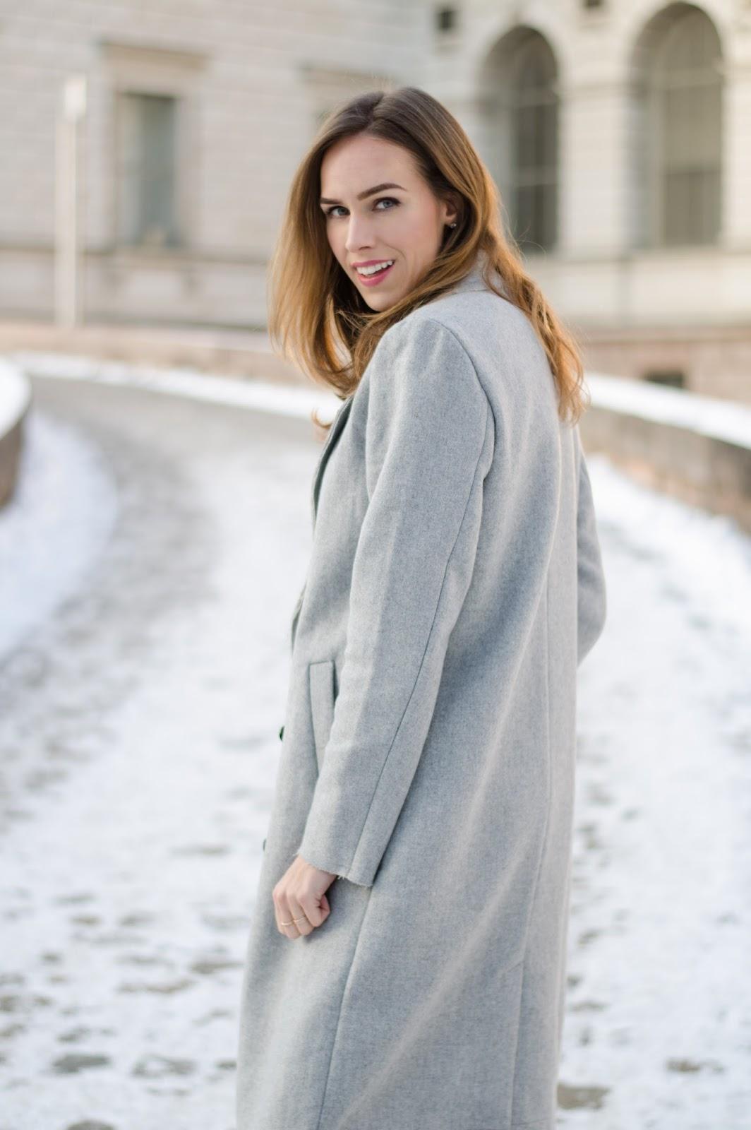 kristjaana mere gray wool vila coat