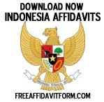 Free Indonesia Affidavit Forms