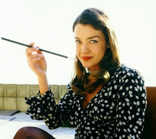Claudia Christian Smoking Cigarettes