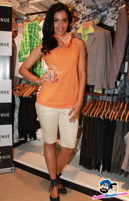 Model in orange top at Park Avenue Woman Store Launch - Park Avenue Woman Store Launch Pics