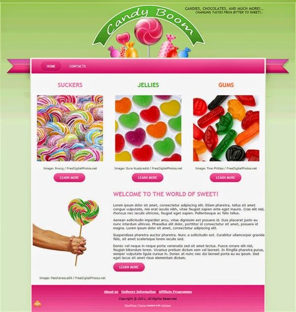 Candy Boom - Free Wordpress Theme
