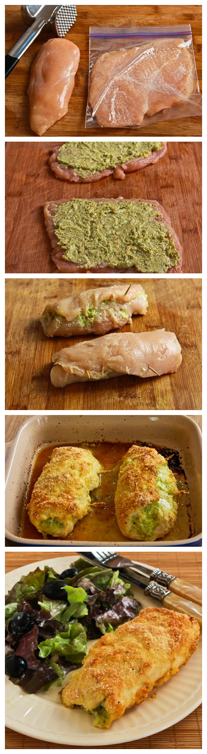Baked Chicken Stuffed with Pesto and Cheese - Recipebest