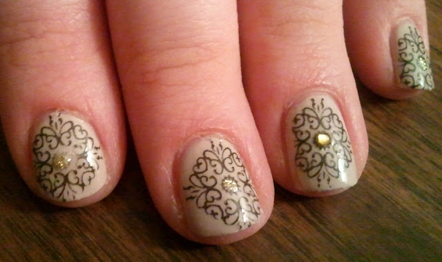 Loreal tea and crumpets Konad Stamping