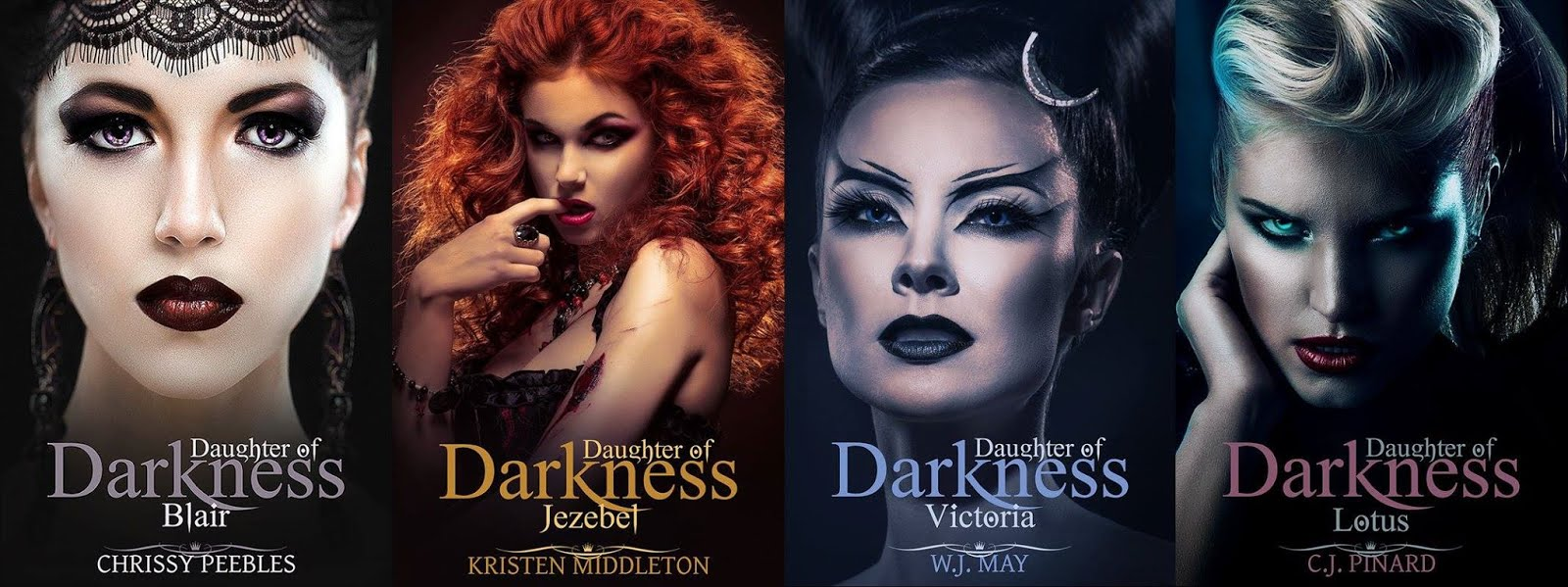 Daughters of Darkness (4 different series written by 4 different authors)