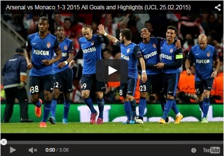 Highlights Liga Champions : Arsenal vs AS Monaco