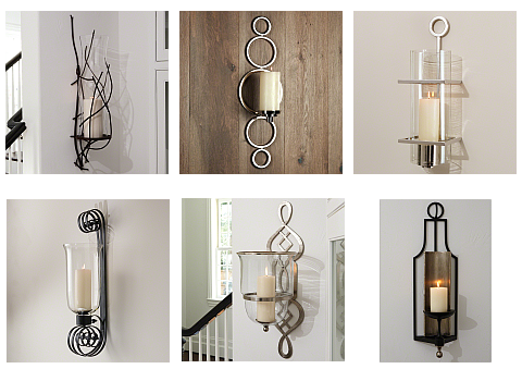 wall sconces for candles