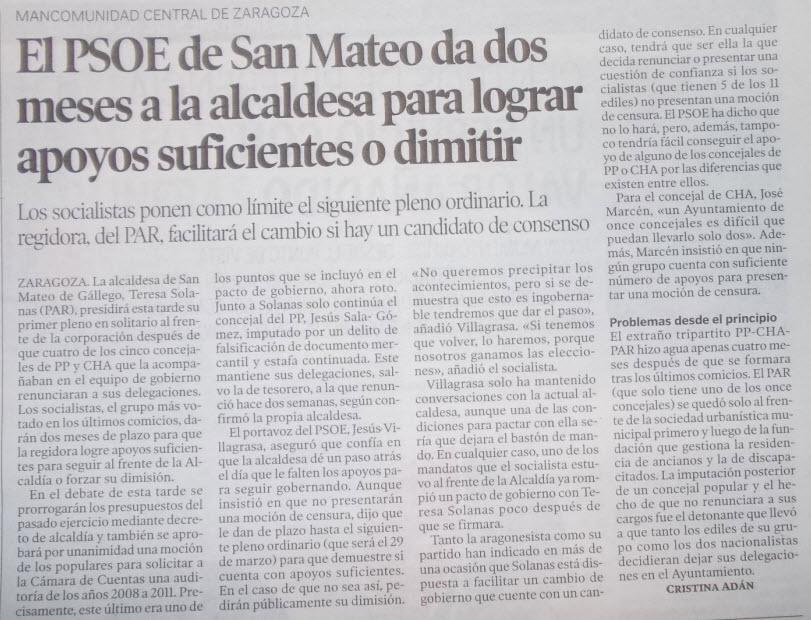 El blog de san mateo de g llego heraldo de arag n el p o - El tiempo en san mateo de gallego ...