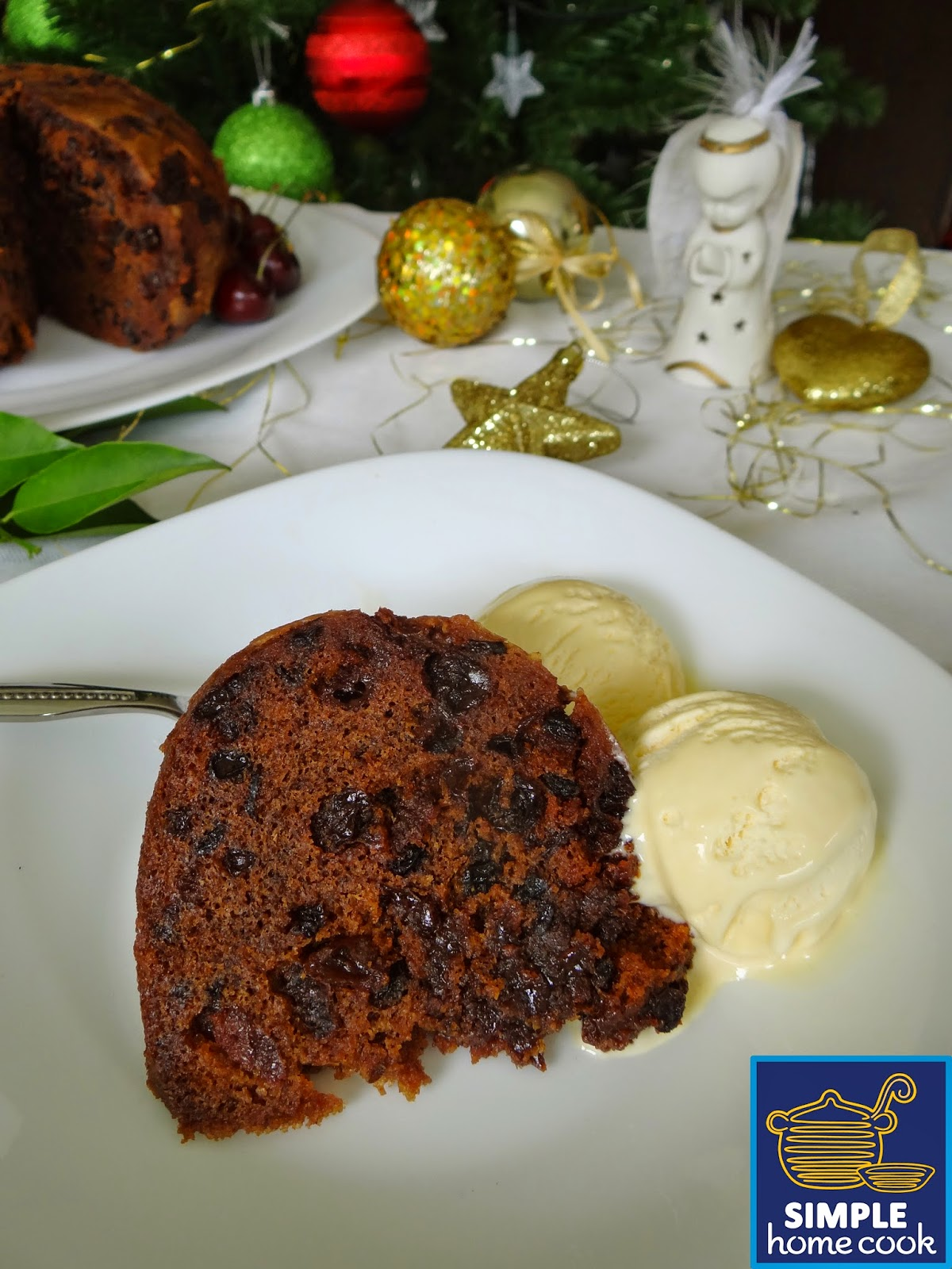 Simple home cook step by step guide to making a christmas for Easy xmas pudding