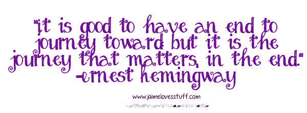 Ernest Hemingway Quote Goals