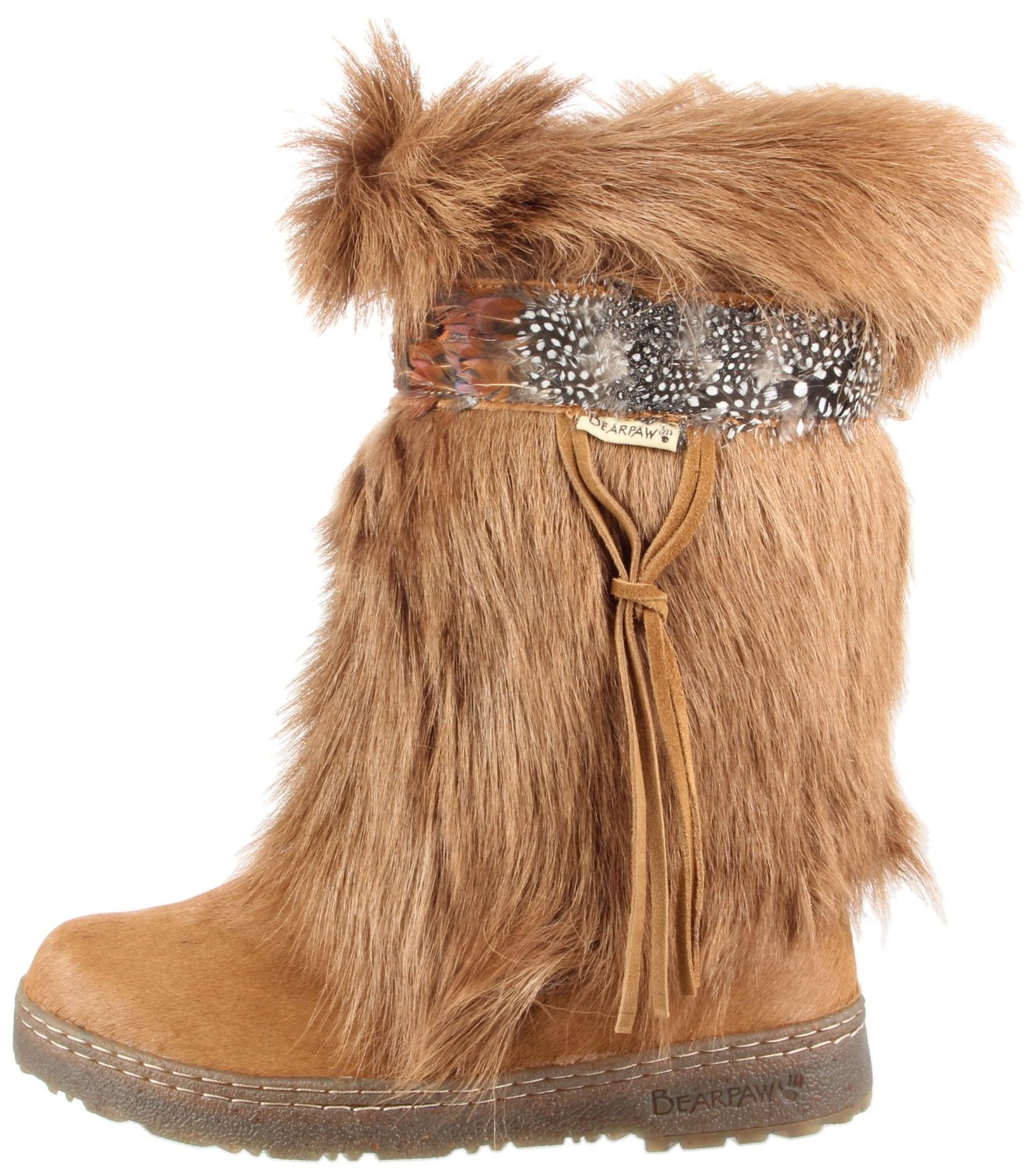Fur Boots. Fur boots keep feet warm when cold seasons arrive. Boots with faux fur lining and trim are perfect for walking in the snow. For added warmth, boots have down insulation and feature a lace-up closure to keep heat inside.