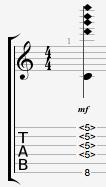 Cmaj9 Guitar Harmonics Chord