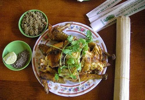 Buôn Đôn Grilled Chicken with Lam Rice (Cơm Lam Gà Nướng)