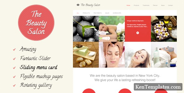 ThemeForest – The Beauty Salon WordPress Theme
